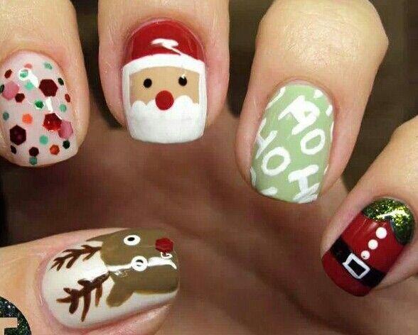 Uñas preciosas de Navidad.