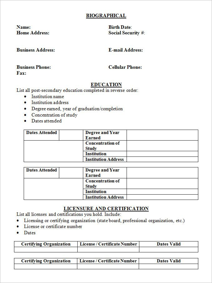 Easy And Free Resume Templates Basic Resume Resume Template Free Simple Resume Template