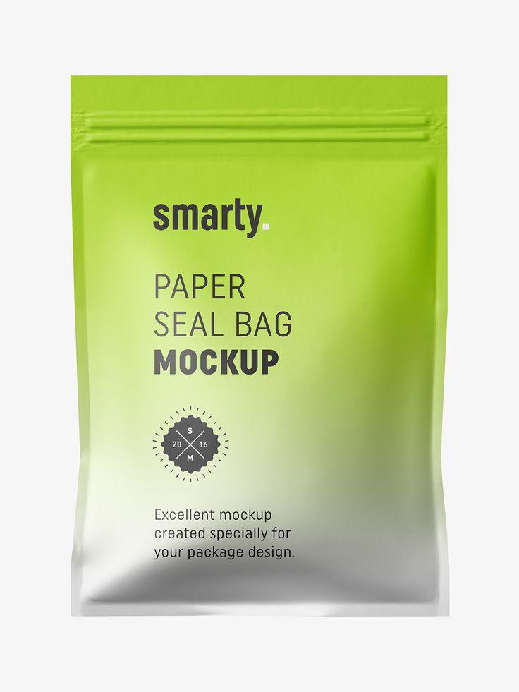 Paper seal bag mockup
