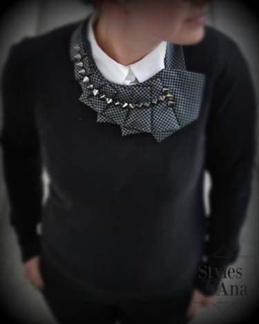 Studded  Statement Necklace with Studs Unique by stylesbyana