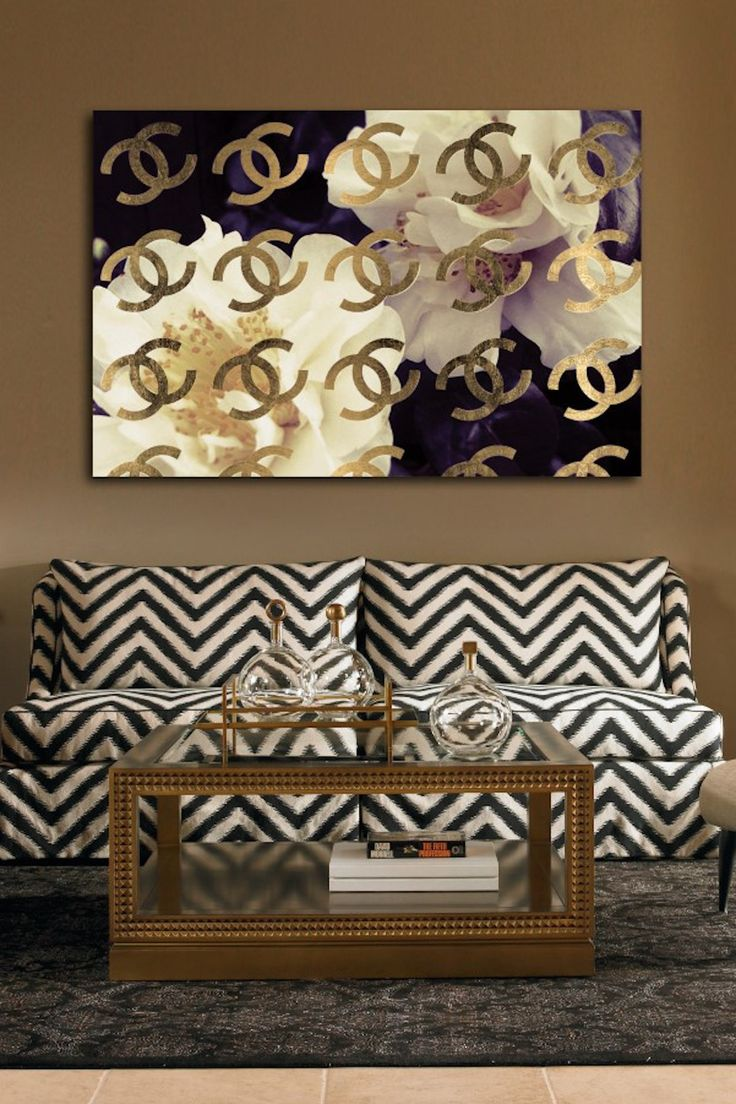 Oliver Gal Cocos Gold Camellia Canvas Art on HauteLook