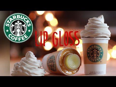 DIY Starbucks Lip Gloss - How To Make Sweet Lip Balm Coffee Cup Drink - Polymer Clay Tutorial - YouTube