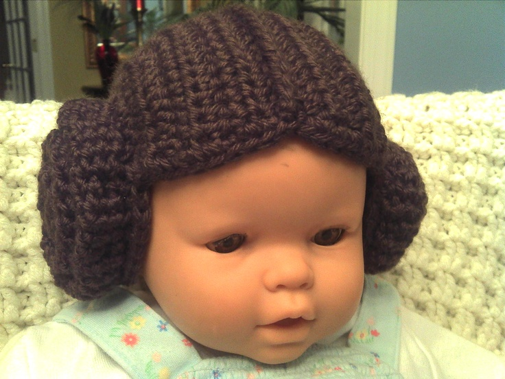 Crochet Wig Hat...Who needs Disney Princesses when you have STAR WARS Princecess Lea!