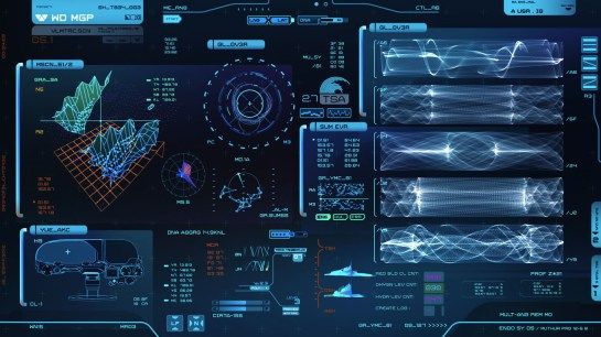 Sci-Fi Interface design: Prometheus (Shaun Yue) | #ui #interface #scifi #blue #terra