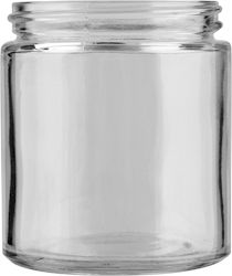 The 30W504 is a 4 oz 58mm clear wide mouth jar. It has a straight profile with a slightly rounded shoulder and base, often used as a #condiment and spread container in the #food industry, but also appropriate for packaging #creams, #DIY projects and #bodycare products.