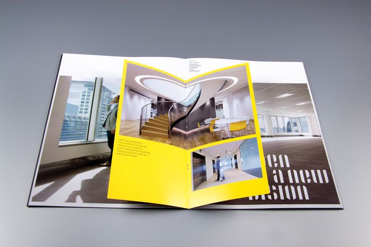 THERE Design  Brochure design. http://there.com.au/work/cbre_35clarence