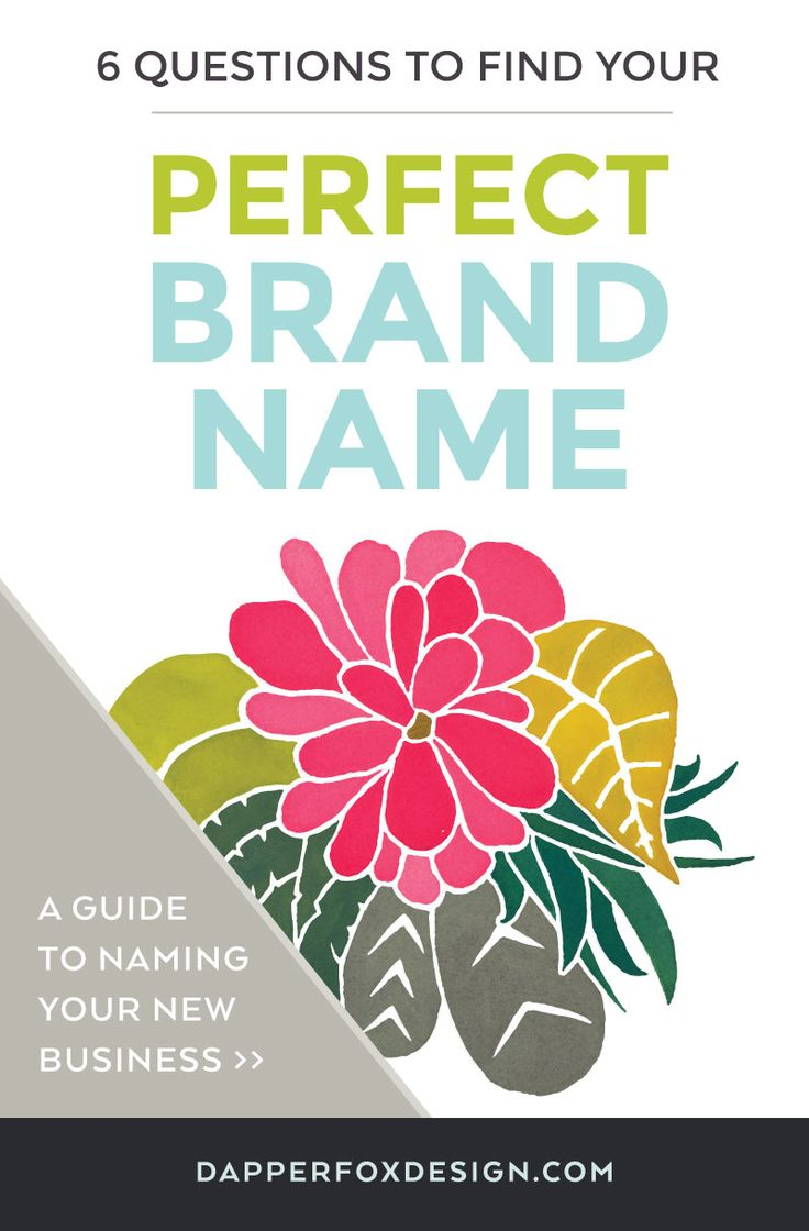 6 Questions to Find Your Perfect Brand Name - How to name your new business - By Dapper Fox Design//  Website Design - Branding - Logo Design - Entrepreneur Blog and Resource
