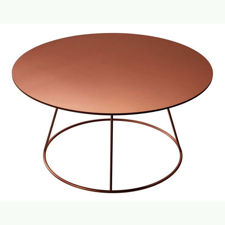 Breeze bord 80 cm, slät skiva, koppar i gruppen Möbler / Bord / Soffbord hos RUM21.se (123928)