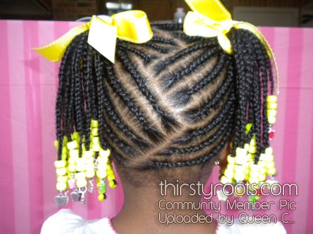 Cornrow Designs For Girls | Black Little Girls Hair Styles | thirstyroots.com: Black Hairstyles ...