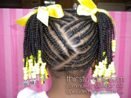 Cornrow Designs For Girls | Black Little Girls Hair Styles | thirstyroots.com: Black Hairstyles ...