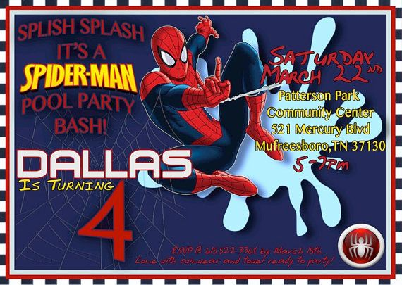 68 best avengers/spiderman birthday party images on pinterest, Party invitations