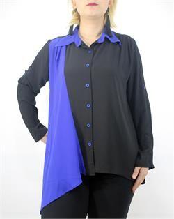 Mavi Siyah Gömlek