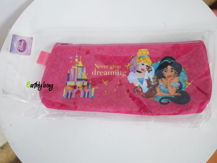 Licensed Cute Disney princess Cinderella Jasmine Aladin pencil case pouch #Disney