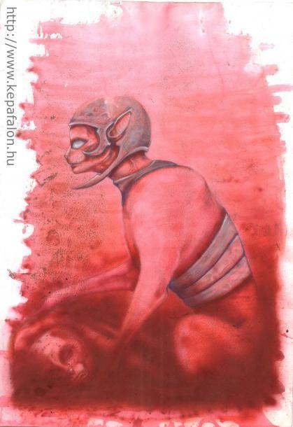Mazán Mihály - A vadász című festménye