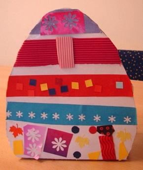 Uova di Pasqua in cartone da riempire   da www.kigaportal.com