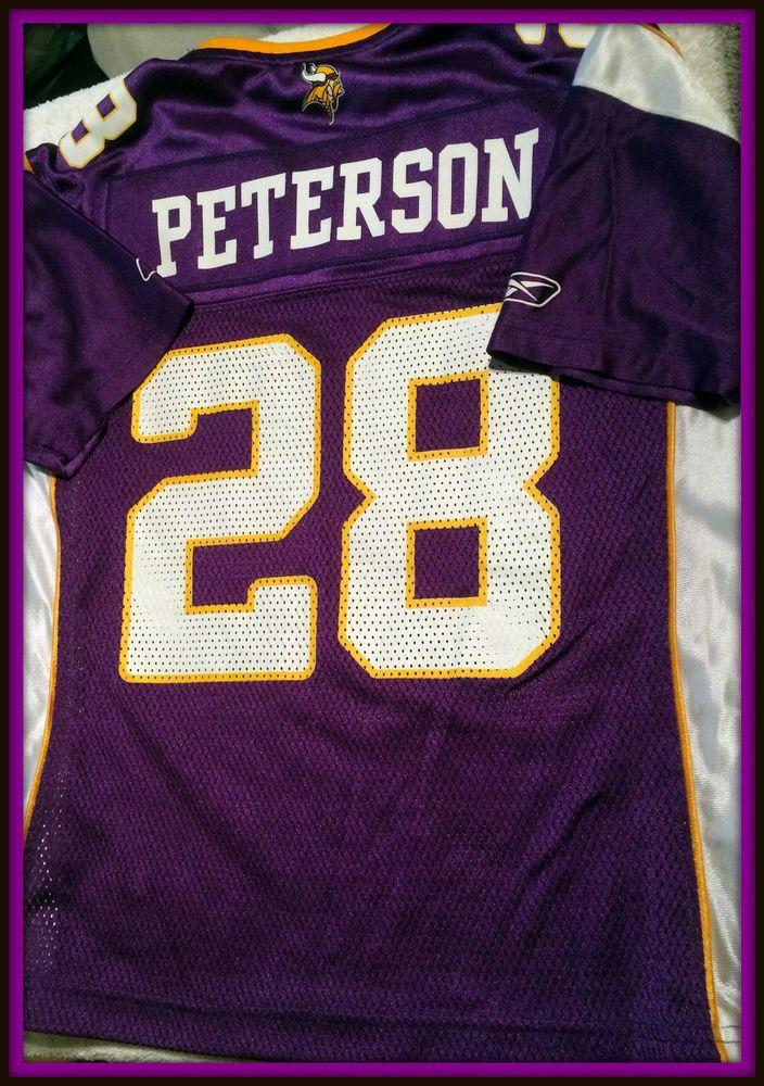 Sale 59.99 Minnesota vikings adrian peterson youth small reebok replica  jersey free ship ... e6cd9d636