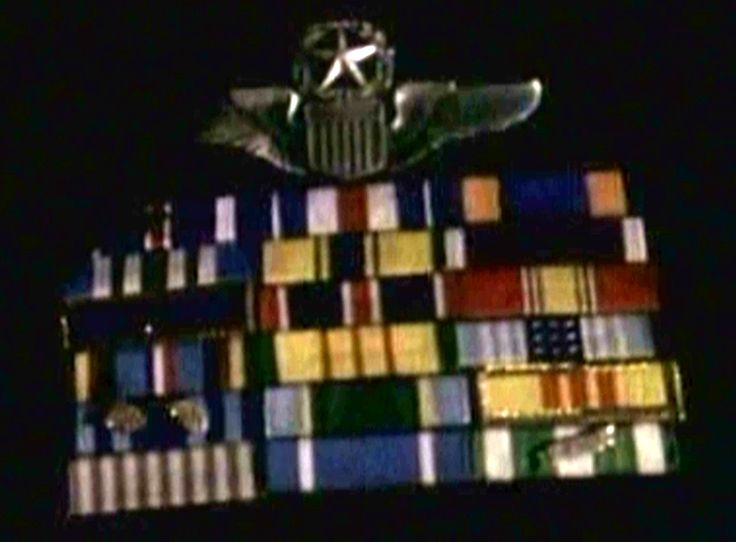 Find our what all the medals warn by General Hawkens in The Golden Triangle are for.