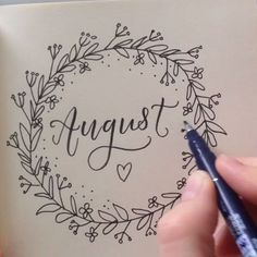 Image result for august bullet journal wreath