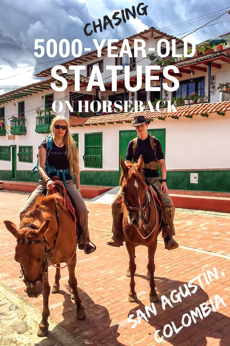 Hop on horseback and go explore the 5000-year old statues of the UNESCO Site of San Agustin Archeological Park in Colombia.