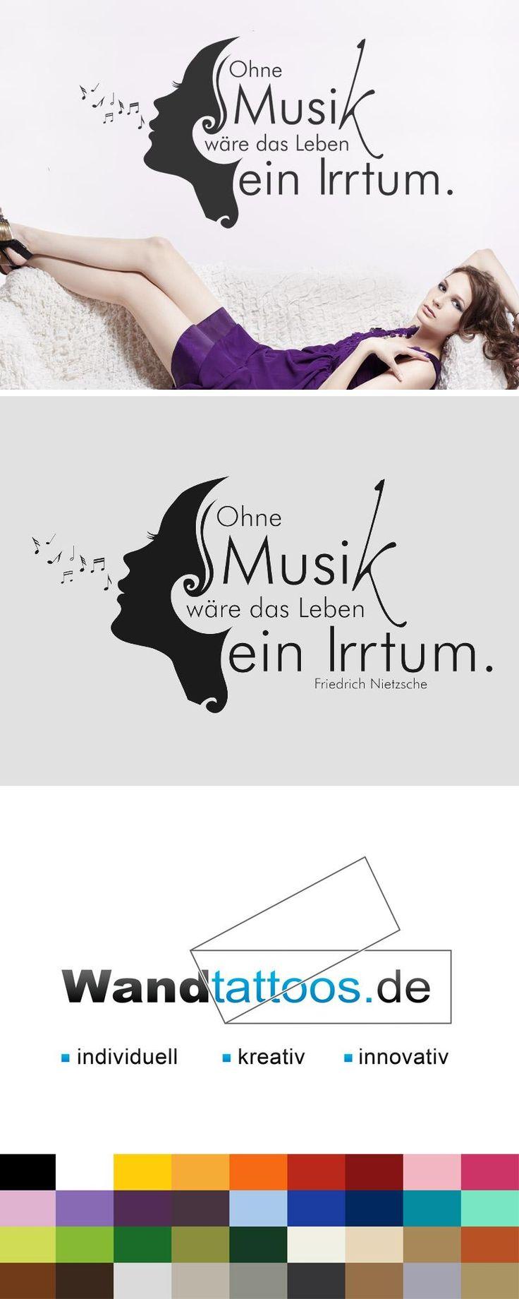Awesome Wandtattoo Ohne Musik w re das Leben ein Irrtum