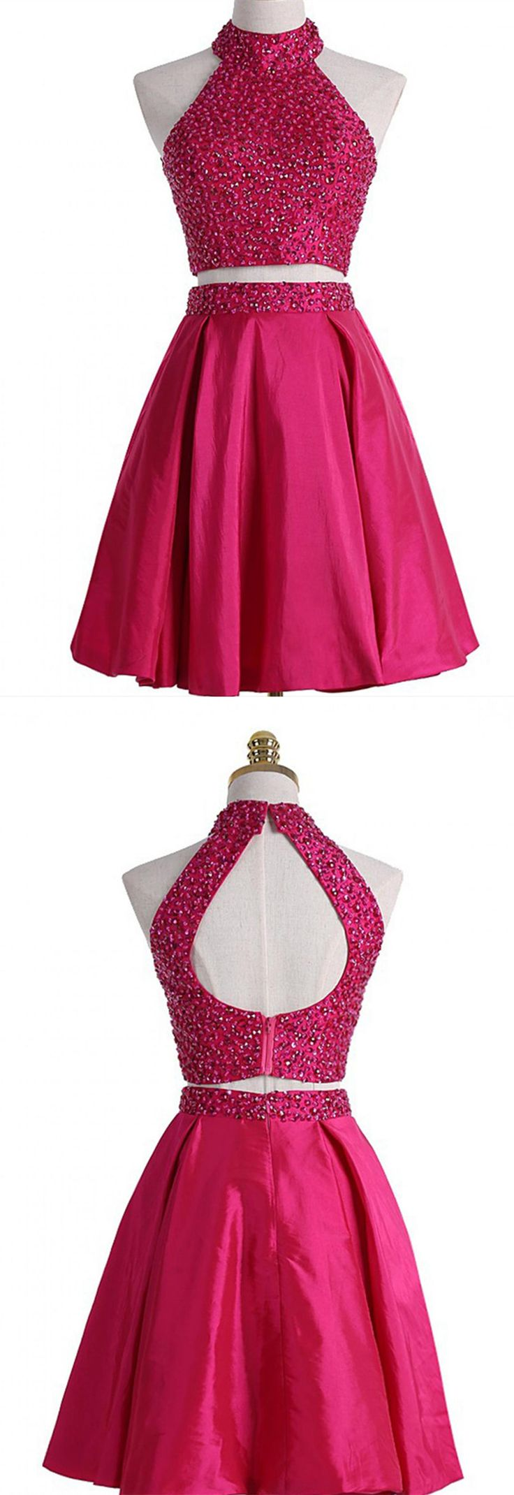 Real Made Halter Beading Homecoming Dresses,Sexy Party Dress,Charming Homecoming Dress,Graduation Dress,Homecoming Dress