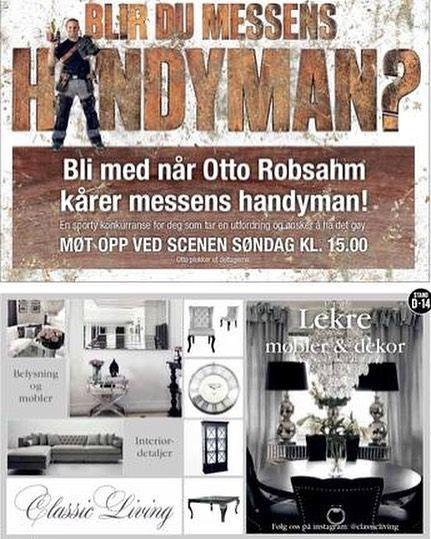 """Møt @classicliving på messen """"Gjør din bolig bedre"""" i Drammen 27-29 oktober  #classicliving #gjørdinboligbedre #messe #boligmesse #drammen #interior"""