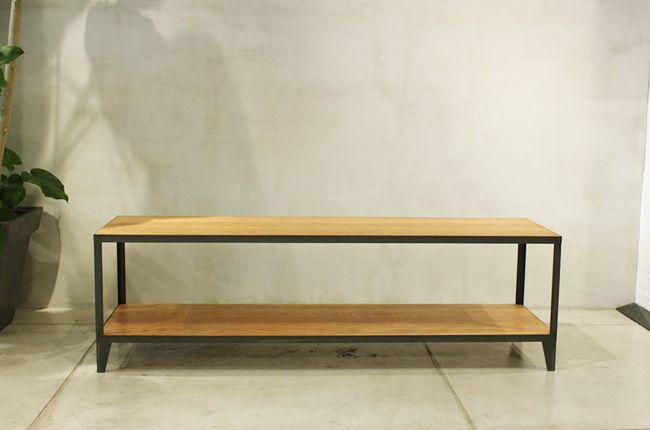 テレビボード02 無垢材とアイアンのセミオーダー家具 CODESTYLE