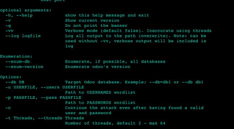 odax is a python script for Odoo Dictionary Attack XMLRPC tool.