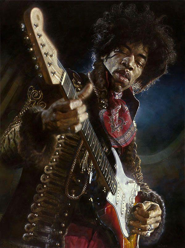 Jimi Hendrix (Caricatures by Sebastian Kruger)