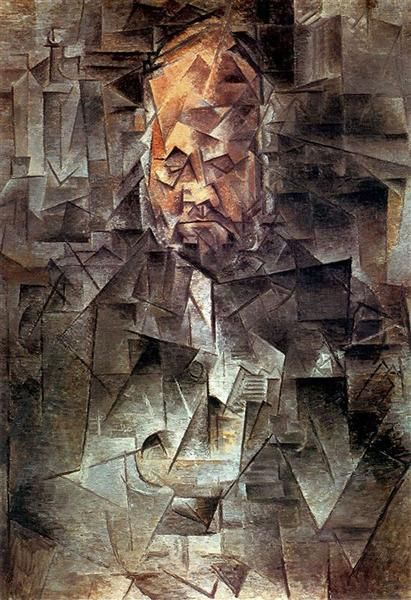 Portrait of Ambroise Vollard, 1910 by Pablo Picasso, Cubist Period. Analytical Cubism. portrait. Pushkin Museum, Moscow, Russia