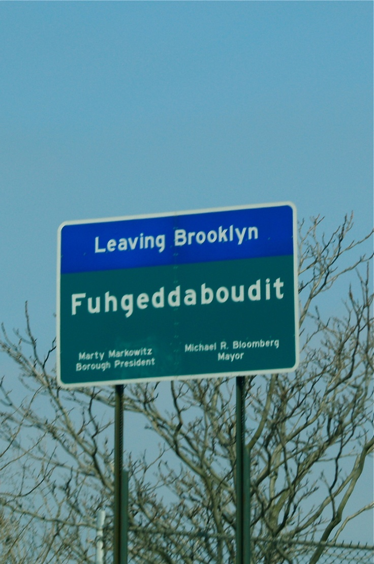 Sign on the Belt Parkway in Brooklyn NY, Saturday 3.17.12