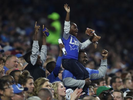 Redskins vs. Lions;   -   October 23, 2016  -  20-17, Lions  -    Detroit Lions fans watch action against the Washington Redskins Sunday, October 23, 2016 at Ford Field in Detroit.  Kirthmon F. Dozier, DFP