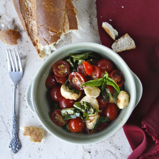 Love Caprese Salad! This recipe takes it one step up from perfect to more perfect.