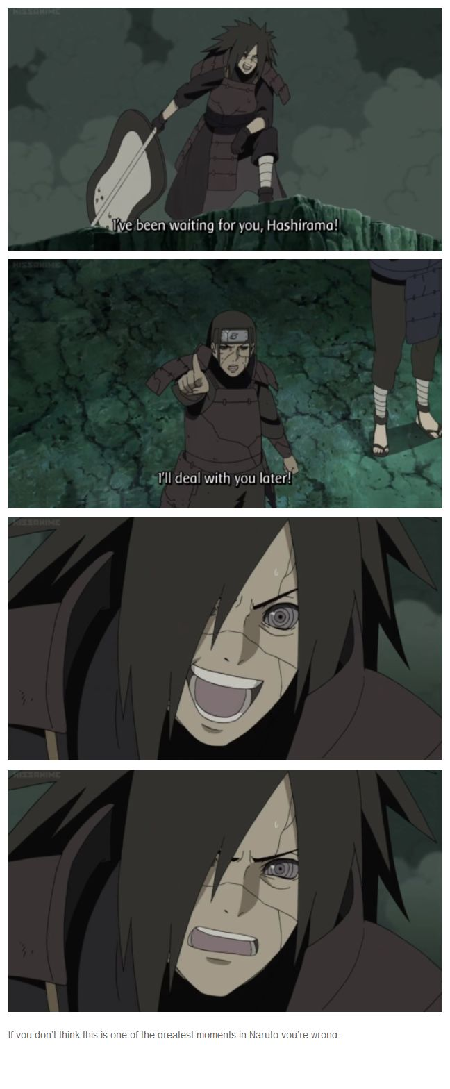 """<3 Madara & Hashirama - """"If you don't think this is one of the greatest moments in Naruto you're wrong."""""""