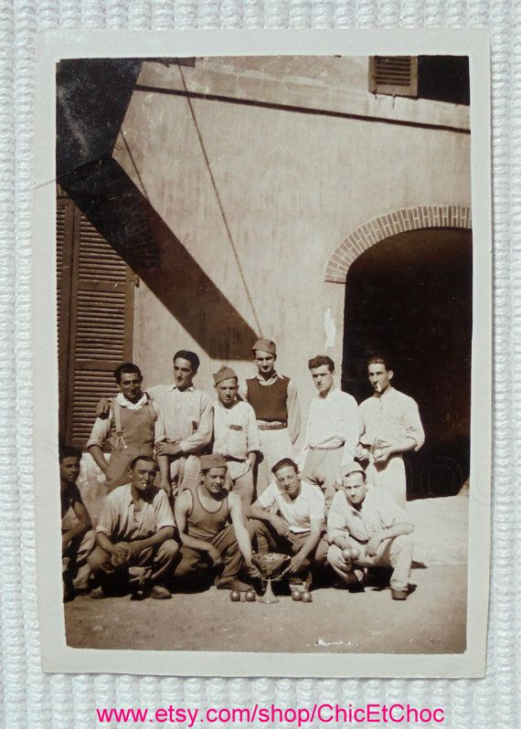 1930's Photograph The Petanque Champions by ChicEtChoc on Etsy