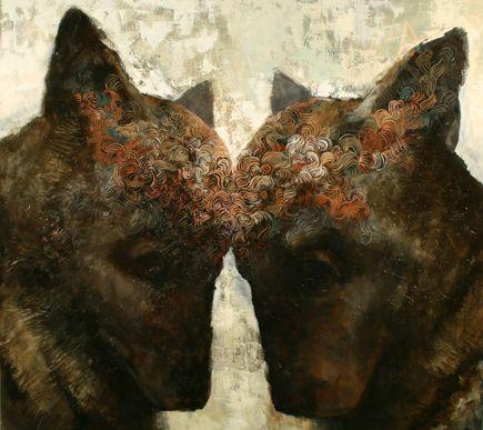 Common 2008, Acryl and oil on canvas, 170cm X 185cm, Artist: Samuli Heimonen
