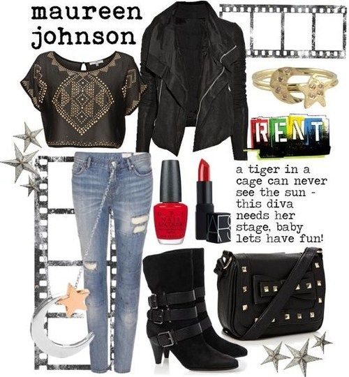 Maureen Johnson inspired outfit from Rent