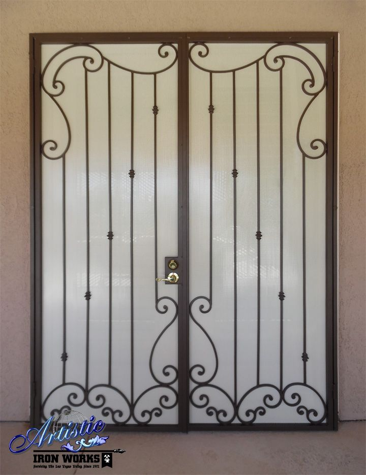 17 best images about on pinterest atlanta homes for Wrought iron security doors