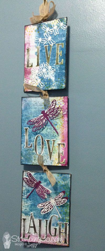 Detailed Dragonfly Thinlits Canvas Wall Decor