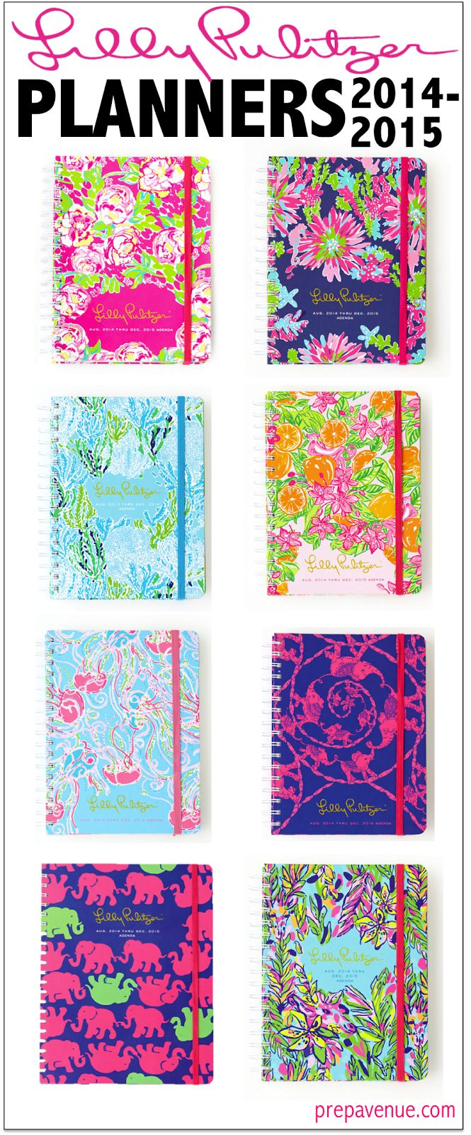 Lilly Pulitzer Planners! These are adorable! The patterns are fun and timeless. They are so bright, how can you forget to write in them? Pretty things keep me motivated