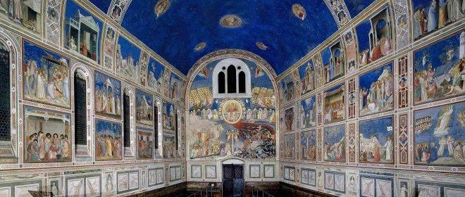 GIOTTO, Cappella degli Scrovegni, 1303-1305, Padova, utilizza la prospettiva intuitiva