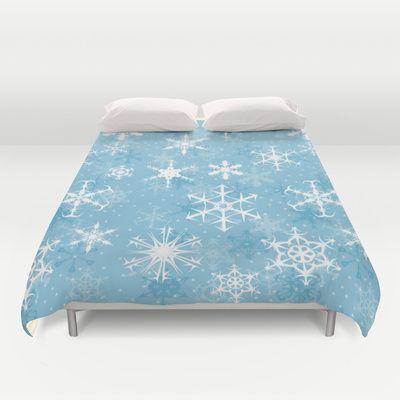 Snowflakes Duvet Cover - Available Here: http://society6.com/rapplatt/Snowflakes-vyM_duvet-cover#46=342