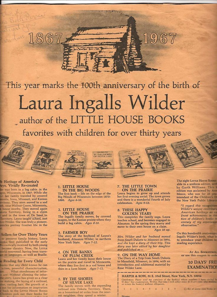 the life and works of laura ingalls wilder Laura ingalls wilder was a homesteader and author, famous for her little house on the prairie book series like juana maria, who inspired the book, island of the blue dolphins, wilder actually existed laura ingalls wilder was a real woman who wrote books inspired by events that took place in her life.