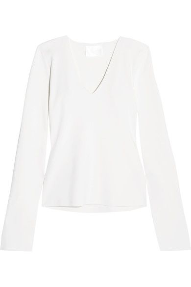 Solace London - Orlina Stretch-knit Top - Cream