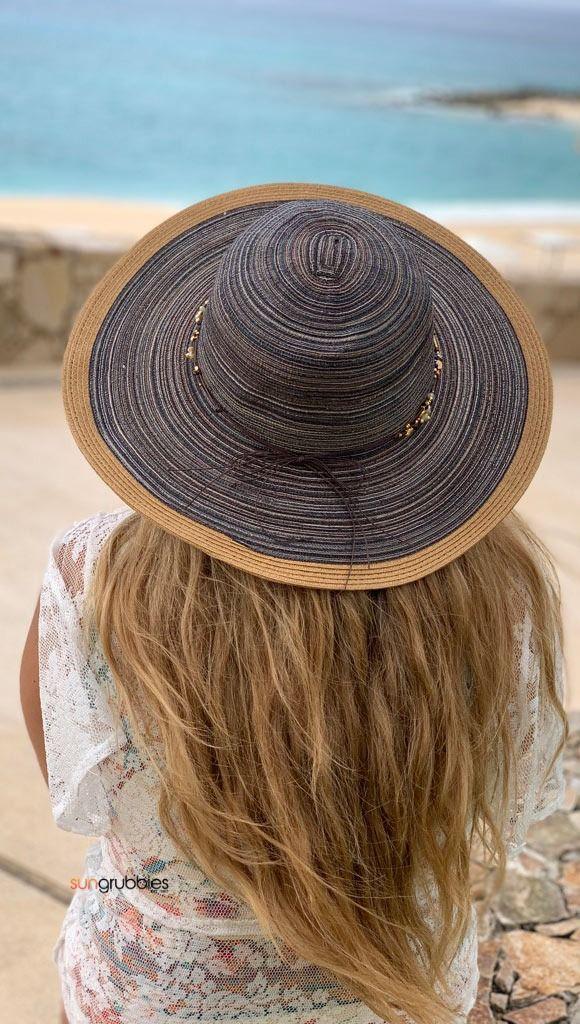 Crystal Summer Beach Hat For Women 3 Inch Wide Brim Upf 50 Washable Summer Hats Beach Hats For Women Sun Hats For Women