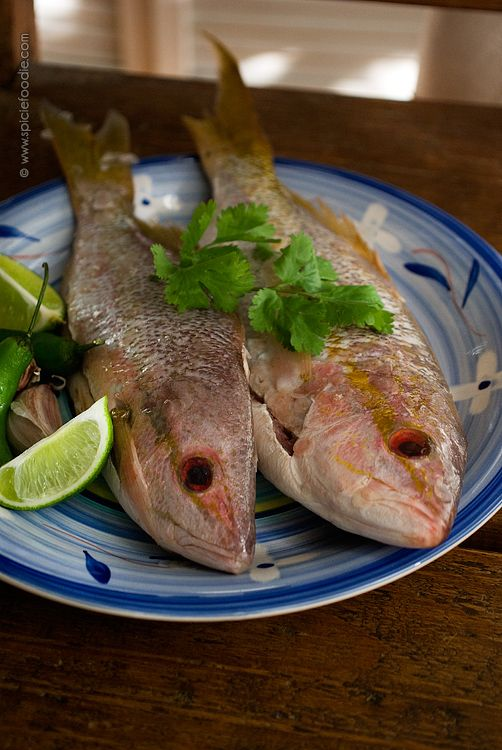 Caribbean Yellowtail Snapper with Lime and Serrano Peppers (omit corn tortillas )