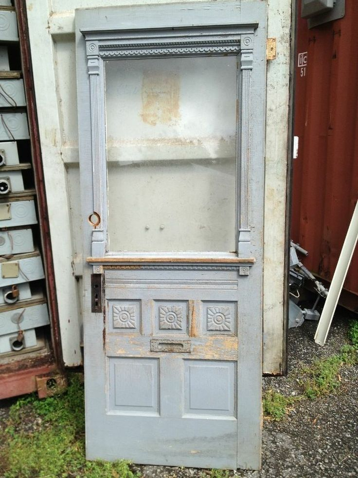 Old Blue Office Door, love this beautiful door! - 202 Best Architectural Salvage Finds Images On Pinterest