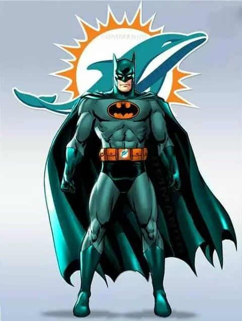 Batman Is A Dolphin Fan Who Knew Miami Dolphins