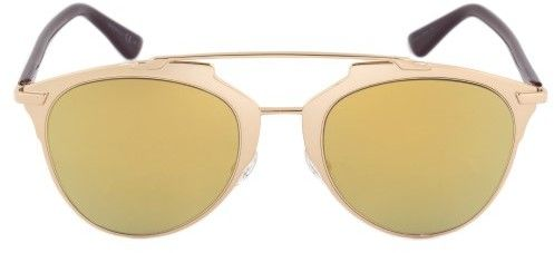 Christian Dior Reflected Sunglasses YC2K1 52 | Gold Frame | Yellow Mirrored Lenses