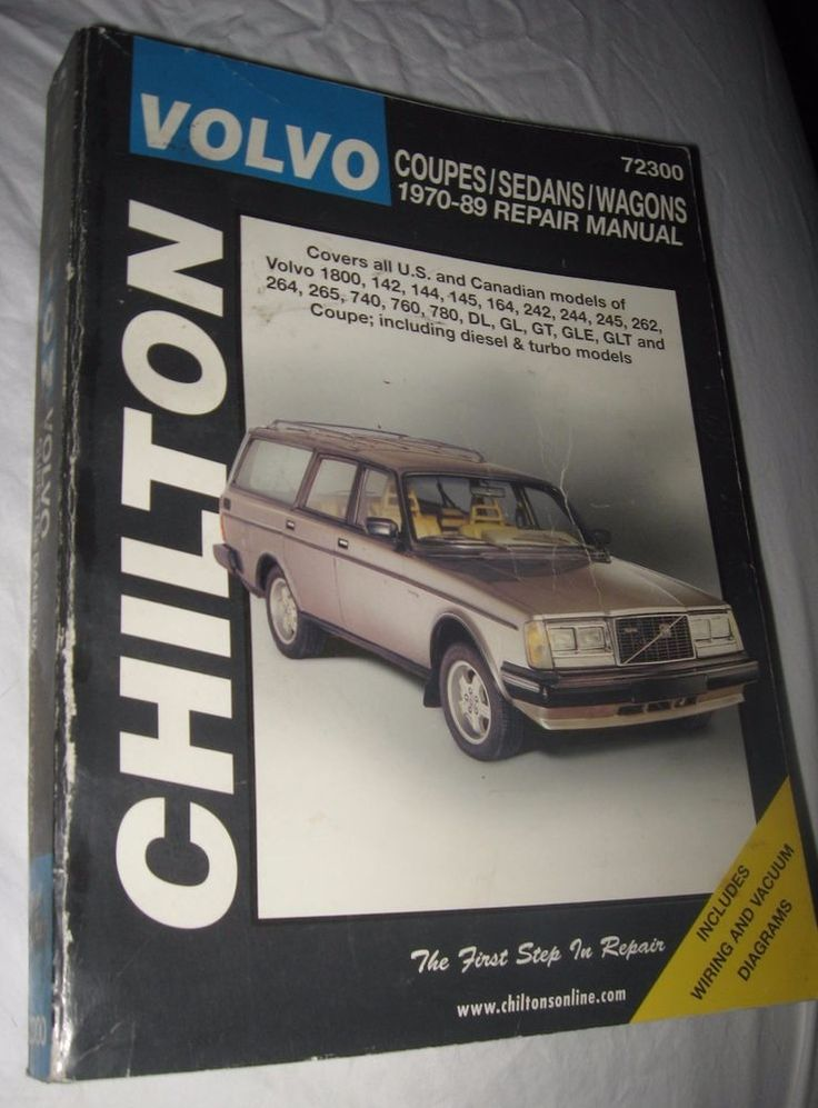 72300 New Chilton Repair Manual Volvo Coupes,Sedans,Wagons 1970-89
